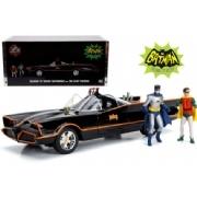 Batmóvel 1966 Classic Tv + Figura Batman Robin Anos 80 1:18
