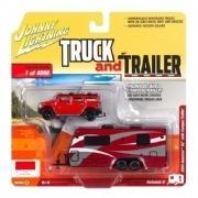 Miniatura  Hummer 2004 + Trailer Camper - Johny lightning 1:64