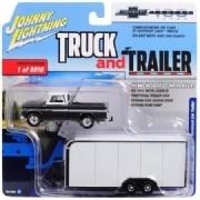 Miniatura  Chevy Pickup 1965 Enclosed +Trailer Johny lightning 1:64