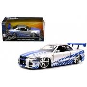 Brian's Nissan Skyline GT-R R34  Velozes &Furiosos Jada Toys 1:24