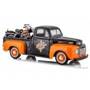 Miniatura Pickup Ford F-1 1948 + Moto Harley 1948 Flh Duo Glide Maisto