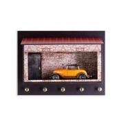 Kit Porta Chaves Garagem  + Miniatura em Metal