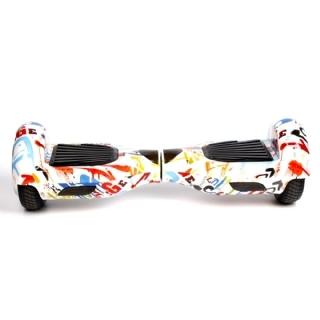Hoverboard Skate Elétrico 6.5 Bluetooth  LG - Branco Grafitado